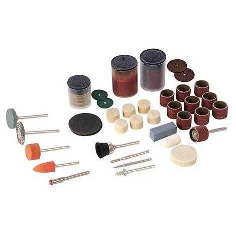 Accessoires pour outil rotatif et touret à meuler Silverline et Scheppach HG34 (105 pièces !)