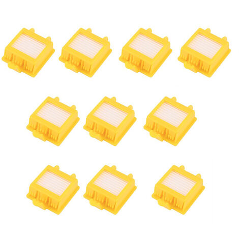 Accessoires pour robot aspirateur, 1 jeu de 8 brosses principales de la serie + 3 series 8 filtres filtrants + 3 series 8 brosses laterales triangulaires