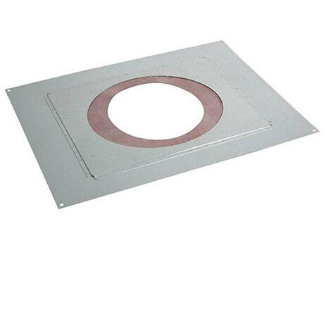 Accessoires règlementation thermique RT 2012 - PGI pour poêles à Pellets - Plaque distance sécurité étanche (plafond)
