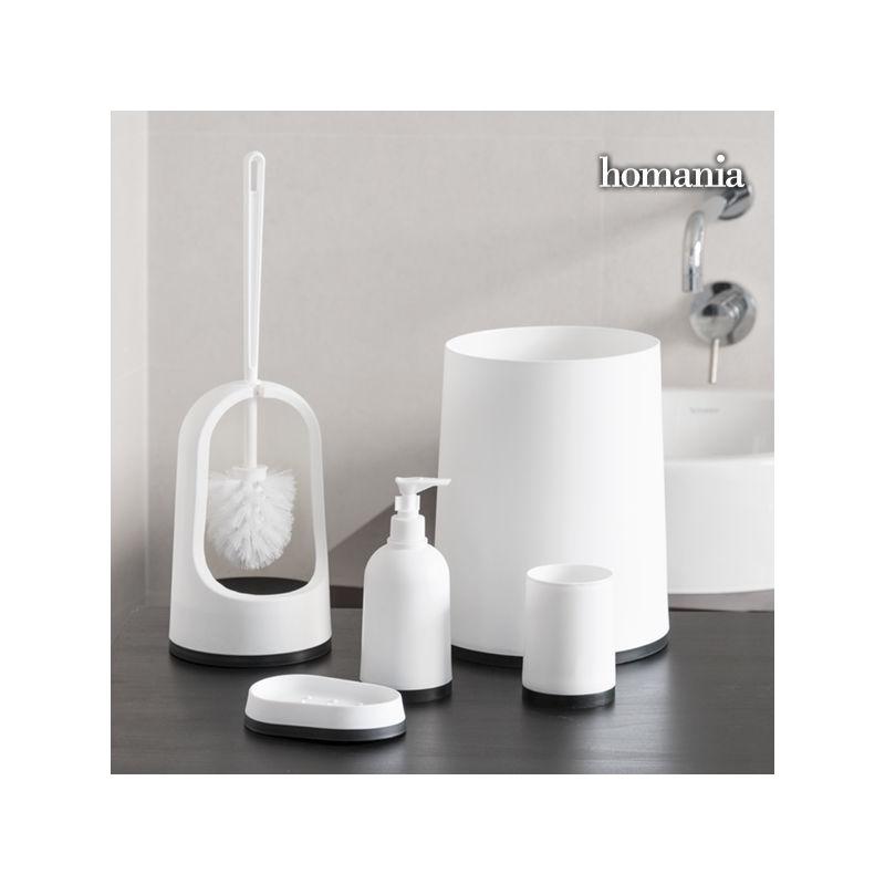 Accessori per il bagno black white homania 5 pezzi - Pezzi per bagno ...
