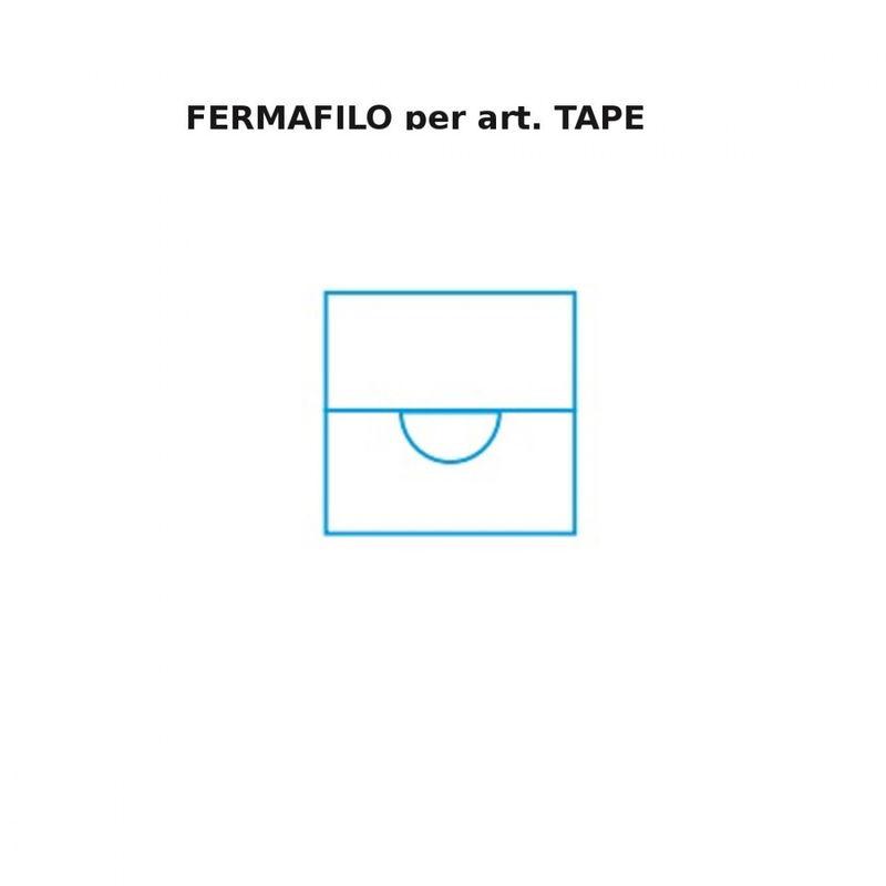 Decentramento fb-tape 2133 n metallo bianco nero, finitura metallo bianco - FRATELLI BRAGA