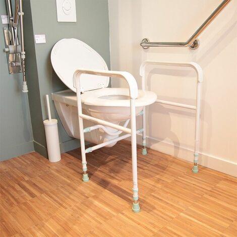 Accoudoirs toilettes réglables Prima - 46 cm - Blanc