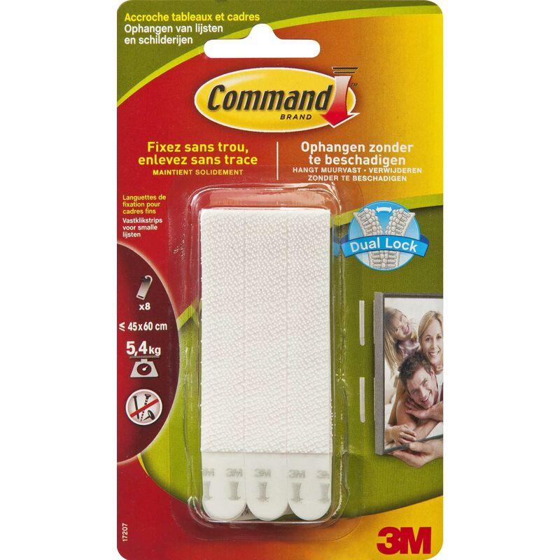 3m command pack de 4 x 2 languettes Étroites pour