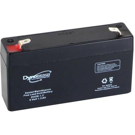 ACCU ACIDE-PLOMB 6V-1.3Ah 98x25x56mm (RI630)