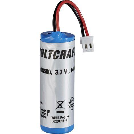 Accu Li-ion de rechange type 18500 VOLTCRAFT A228611