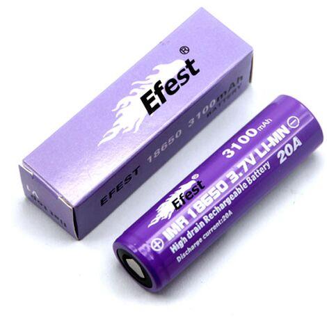 Accu li-ion LIMN / IMR 18650 3.7V 3100mAh Efest Purple Flat