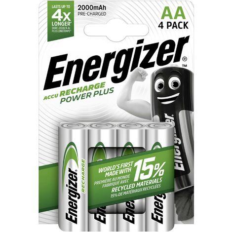 Accus NiMH Energizer Power plus 2000 mAh, 4 pièces W209311
