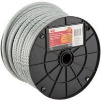 ACE 200ft Aircraft Cable With Clear Vinyl Coating For Railing, Decking, DIY and Much More 21cm x 21cm x 16.5cm