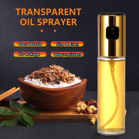 Aceite de oliva Aceite pulverizador de Mister Versatil cristal del aerosol botella de aceite de oliva botella de vinagre de vino botella de cristal, oro