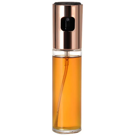 Aceite de oliva Aceite pulverizador de Mister Versatil cristal del aerosol botella de aceite de oliva vinagre de vino de botella de vidrio, oro rosa