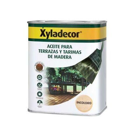Aceite INCOLORO para terrazas y tarimas de madera Xyladecor 750 ml
