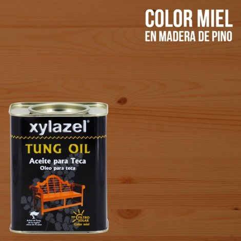 Aceite para Teca Tung Oil Xylazel   750 mL - Miel
