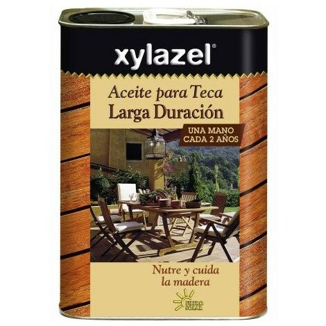 Aceite Teca Protector 5 Lt Teca Claro Larga Duracion Xylazel