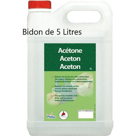Acétone bidon de 5 litres - Phebus