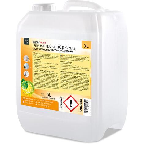 Acide citrique - Différentes quantités