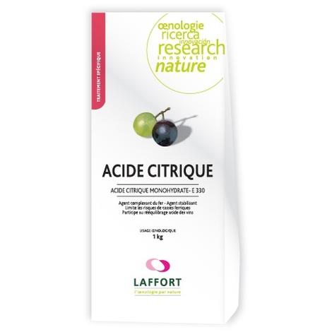 Ácido Cítrico Monohidrato E-330 (Corrector Hierro y Acidez)