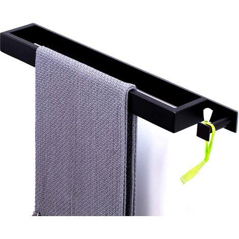 Acier inoxydable 304 avec anneaux porte-serviettes crochet sans perçage, sèche-serviettes chromé, porte-serviettes, porte-serviettes de bain pour salle de bain et cuisine, auto-adhésif