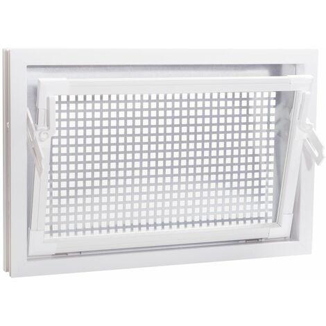 ACO 60x40cm Nebenraumfenster Einfachglas + Schutzgitter Kellerfenster Fenster weiß