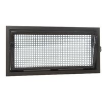 ACO 80x60cm Nebenraumfenster Isofenster + Schutzgitter Kellerfenster Fenster braun