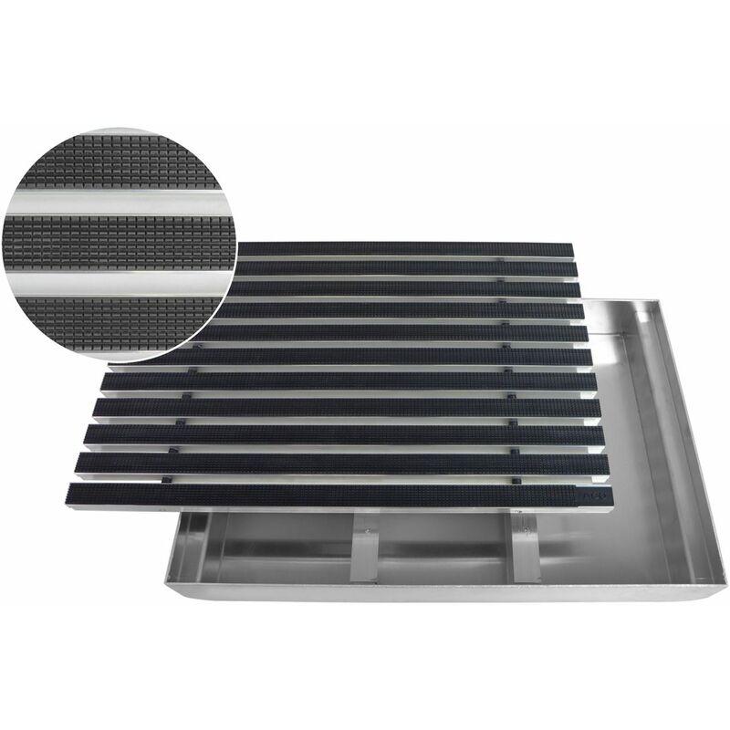 ALU Rahmen Fu/ßmatte T/ürmatte Schuhabstreifer Gr/ö/ße:600 x 400 mm EMCO Eingangsmatte DIPLOMAT Rips beige 10mm