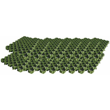ACO Self® 586x386x38mm Rasenwabe Set 16 Stück Rasengitter Rasenplatte Gitter für Rasen