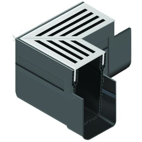 ACO Threshold Drain Corner Unit Assembly with Grating