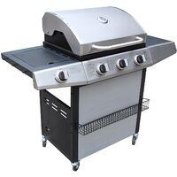 ACOMA : Barbecue à gaz 3 + 1 + plancha