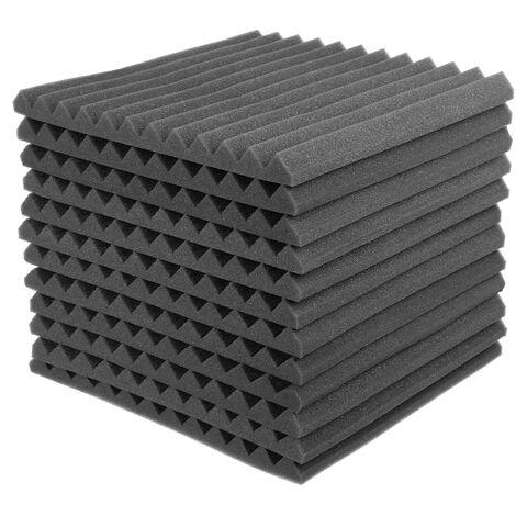 """main image of """"Acoustic Foam Soundproofing cotton 24PCS 30*30*2.5cm Black"""""""