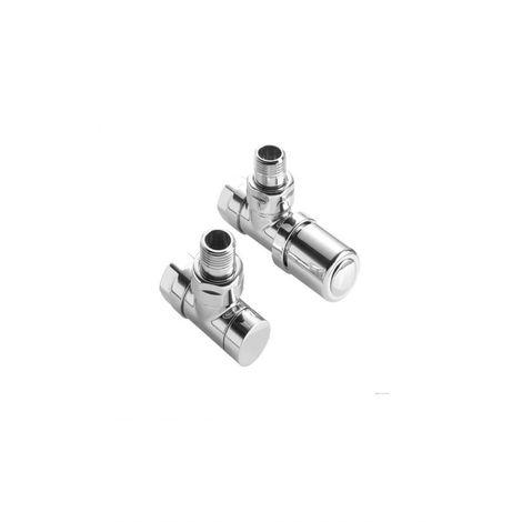 ACOVA 841028 Kit robinet manuel équerre chromé en 15x21