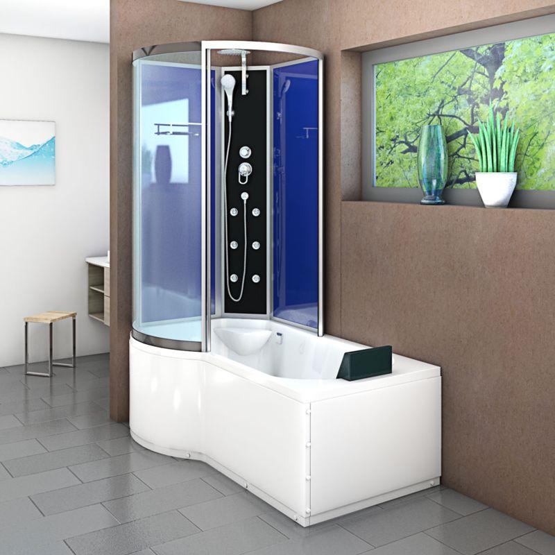 AcquaVapore DTP8050-A200R Wanne Duschtempel Badewanne Dusche Duschkabine  98x170