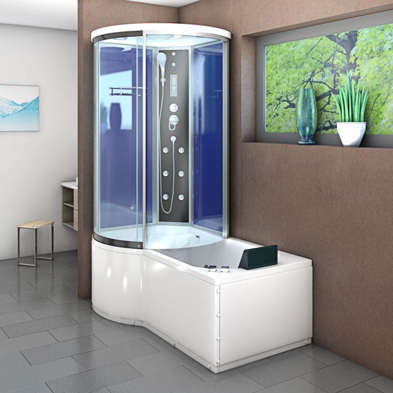 Armatur Einhebelmischer 10 cm 5 fach Umschalter Duschkabine Duschtempel Dusche