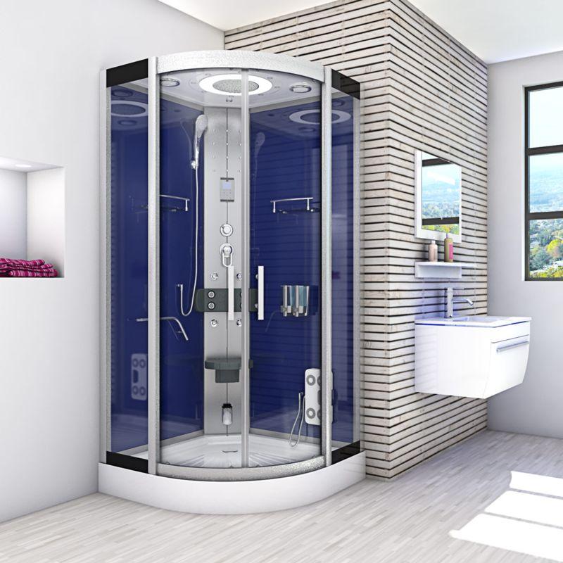 Duschkabine Regendusche Fertigdusche Dusche Duschwand DUSCHTEMPEL 90x90cm x 215