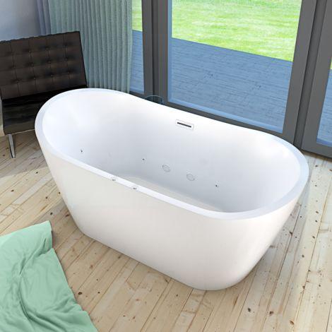 AcquaVapore freistehende Badewanne FSW23 180cm Whirlpool Luft & Wasser