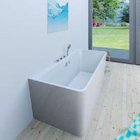 AcquaVapore freistehende Badewanne Wanne Acryl FSW05 170x80cm Armatur wählbar