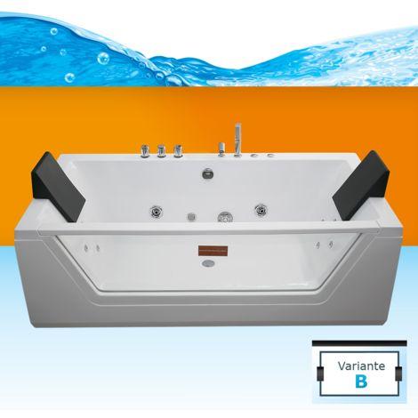 AcquaVapore Whirlpool Pool Badewanne Wanne A1813NB mit Reinigungsfunktion 90x185 -13469- ohne aktive Schlauchreinigung