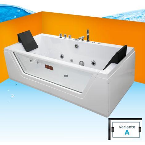 AcquaVapore Whirlpool Pool Badewanne Wanne A1813RA mit Reinigungsfunktion 90x185