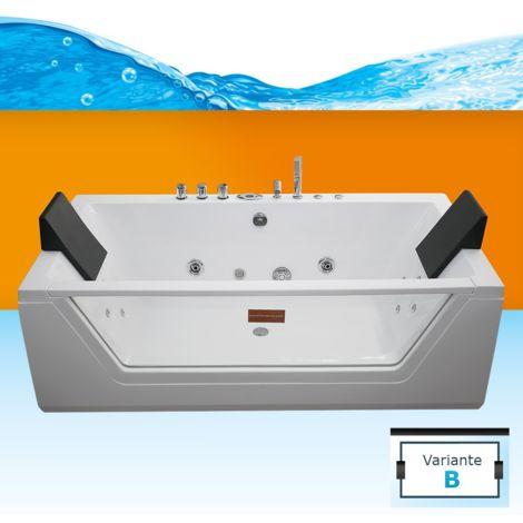 AcquaVapore Whirlpool Pool Badewanne Wanne A1813RB mit Reinigungsfunktion 90x185