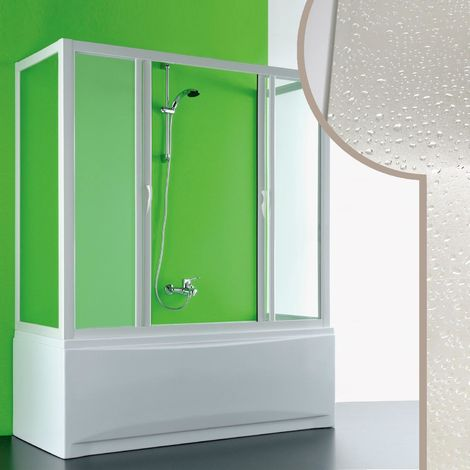 Acrylic 3-sided bath screen mod. Plutone 2 with central opening