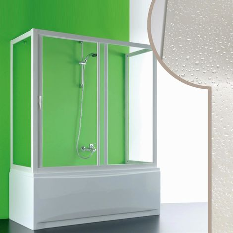 Acrylic 3-sided bath screen mod. Plutone with side opening