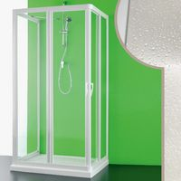 Acrylic 3-sided shower enclosure mod. Venere with central opening