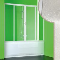 Acrylic bath screen for niche mod. Plutone 2 with central opening