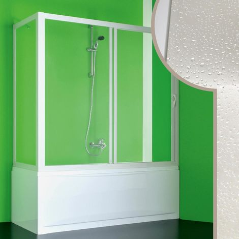 Acrylic bath screen mod. Plutone with side opening