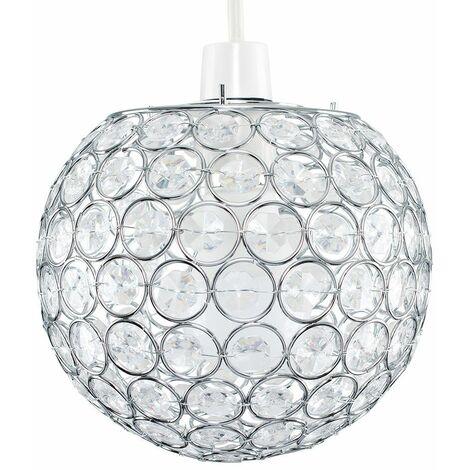 Acrylic Crystal Light Shade Easy Fit JewelBall Ceiling Pendant