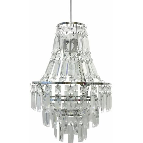 Acrylic Crystal Tiered Chandelier Style Light Shade