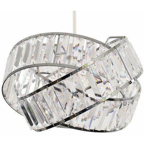 """main image of """"Acrylic Jewel Rings Ceiling Pendant Light Shade - Clear"""""""