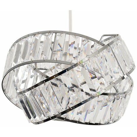 Acrylic Jewel Rings Ceiling Pendant Light Shade - Smoked