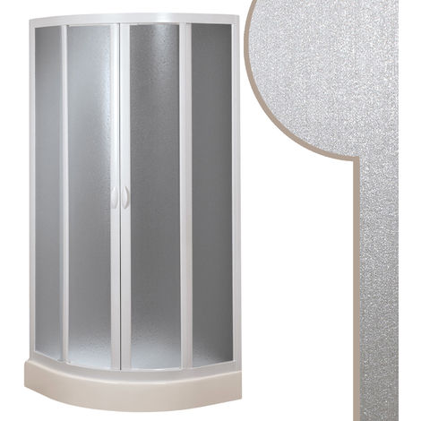 Acrylic round quadrant shower enclosure mod. Smart with central opening
