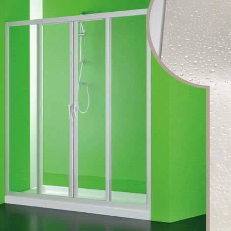 Acrylic shower door mod. Mercurio 2 with central opening
