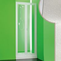 Acrylic shower door mod. Saturno with folding opening