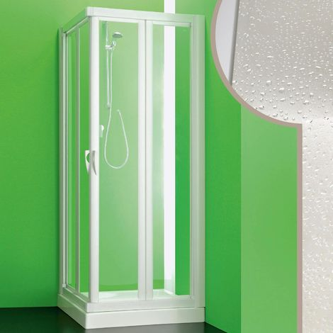 Acrylic shower enclosure mod. Giove with folding opening
